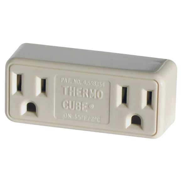Thermo Cube Double Receptacle Cold Weather Outlet