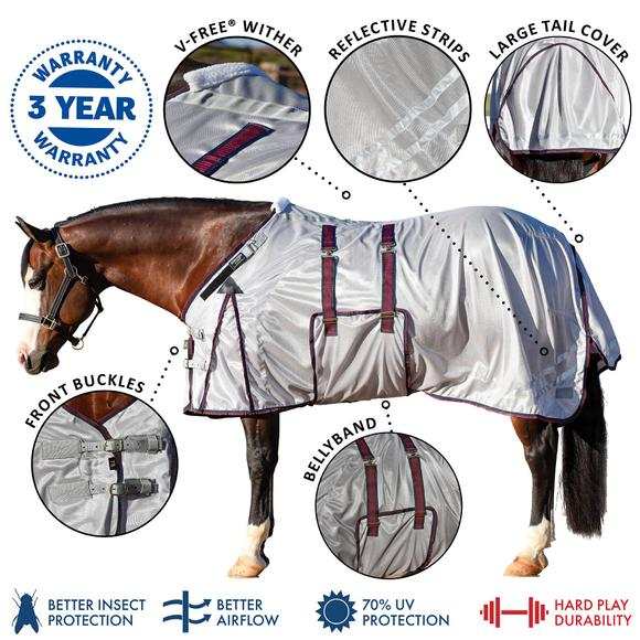 RipGuard Fitted V-Free® Open Front Bellyband Fly Sheet