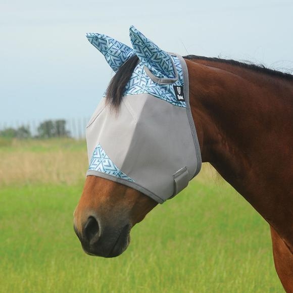 Cashel® Crusader Patterned Fly Mask with Ears