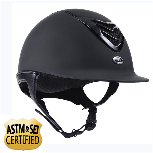 IRH IR4G Matte Black Finish with Black Gloss Vent Helmet
