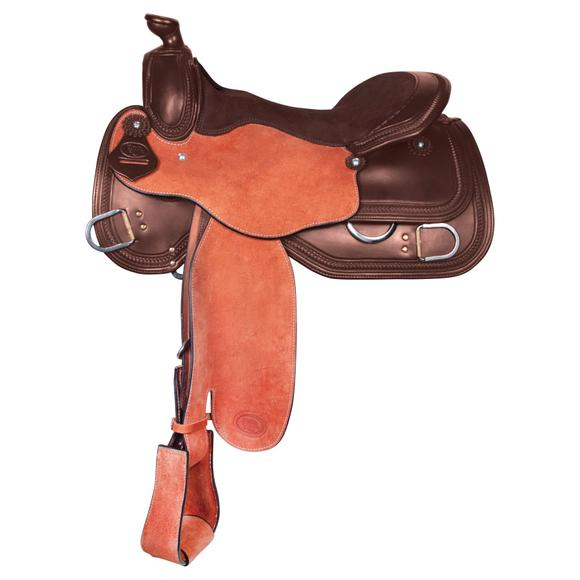 Billy Royal® Two-Tone Roughout Western Saddle