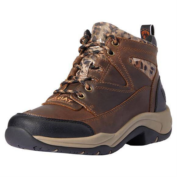 Ariat® Ladies Terrain Distressed Brown And Cheetah Boots