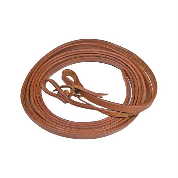 """Double S ® Harness Leather Reins 1/2"""" X8'"""