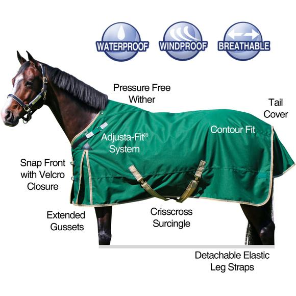 2016 StormShield® VTEK® Evergreen Turnout Blanket - Midweight