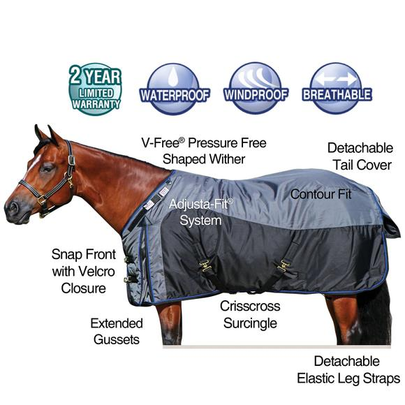 2016 StormShield® V-Free® Regulator Surcingle Turnout Blanket - Heavyweight
