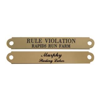 """Notched Halter Name Plate 5/8""""image"""
