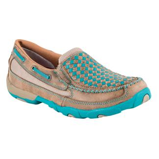 Twisted X Ladies Turquoise Weave Mocsimage