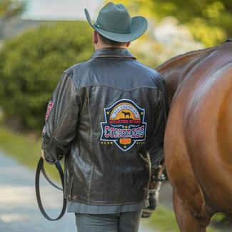 2019 CONGRESS LEATHER JACKET-BROWN BOMBERimage