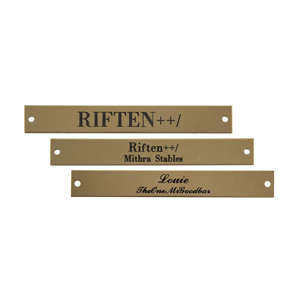 Rectangle Halter Name Plate 5/8""