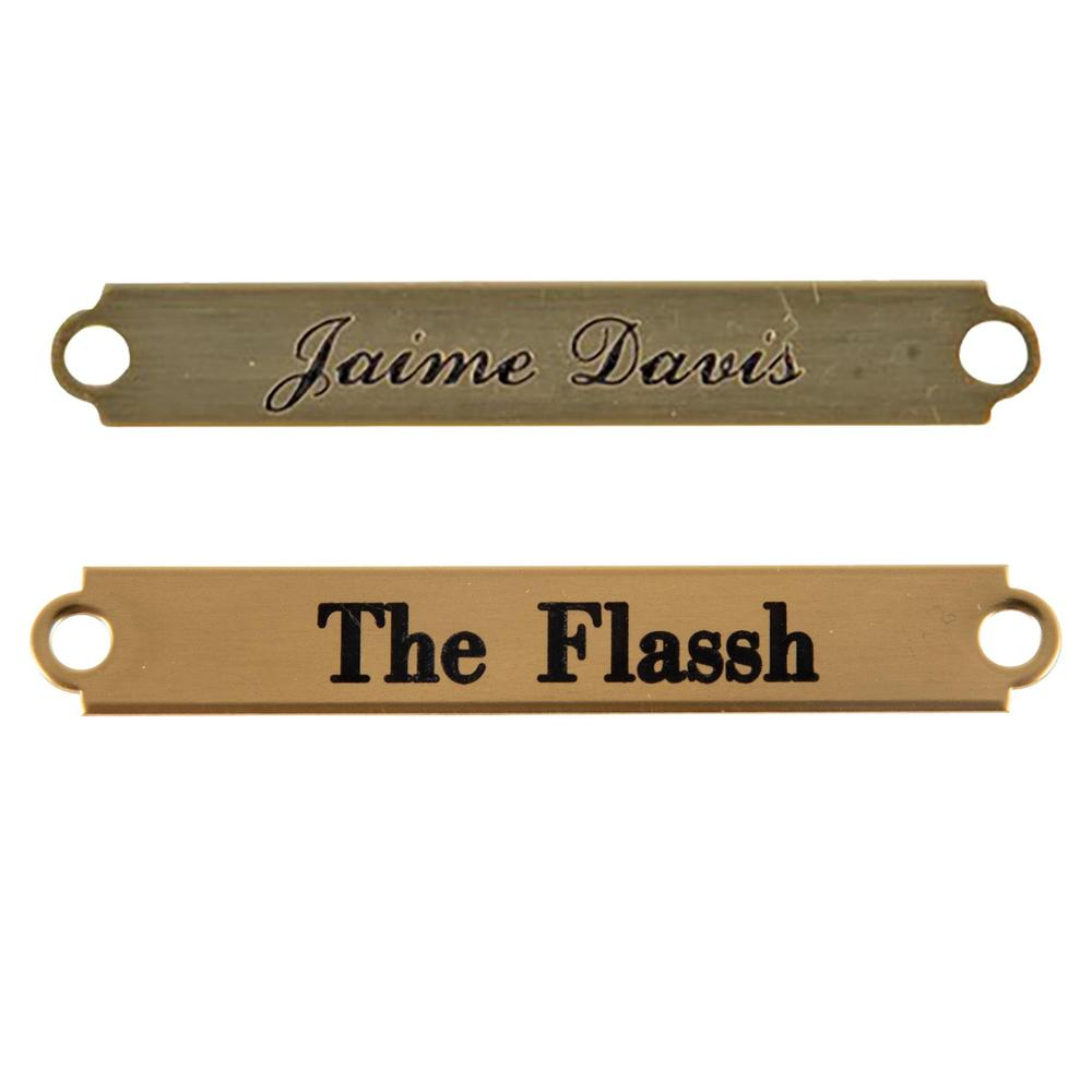Notched Brass Bridle Name Plate