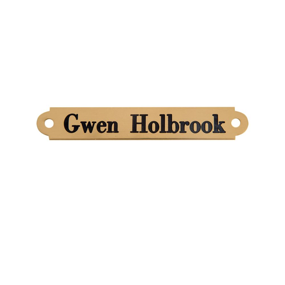Notched Saddle Name Plate