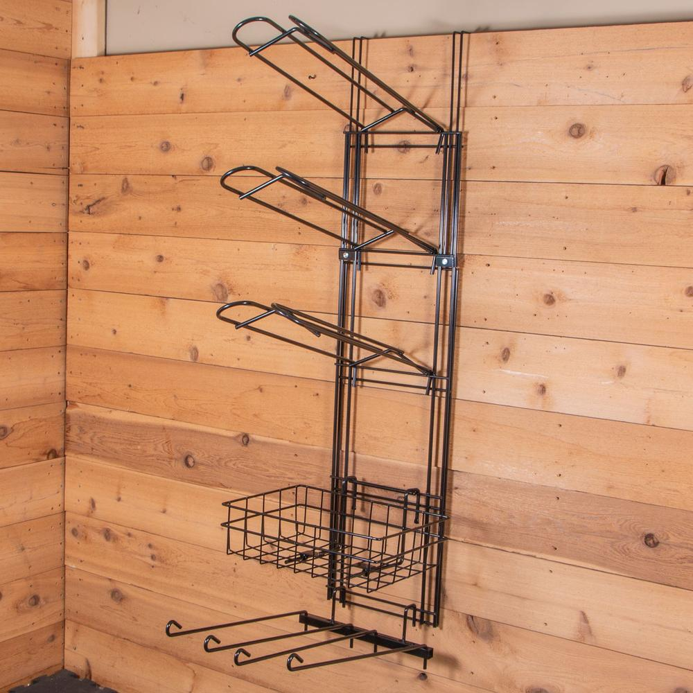 Easy-Up® 5 Tier Main Frame with 3 Saddle Racks, Basket & Swing Arm Rack