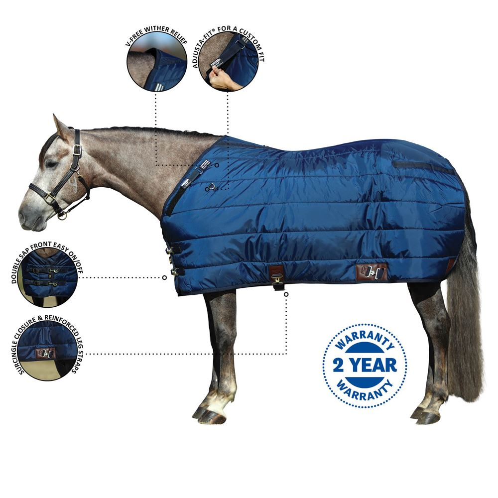 Adjusta-Fit® Dura-Nylon® V-Free® Ocala Leg Strap Open Front Stable Blanket - Midweight