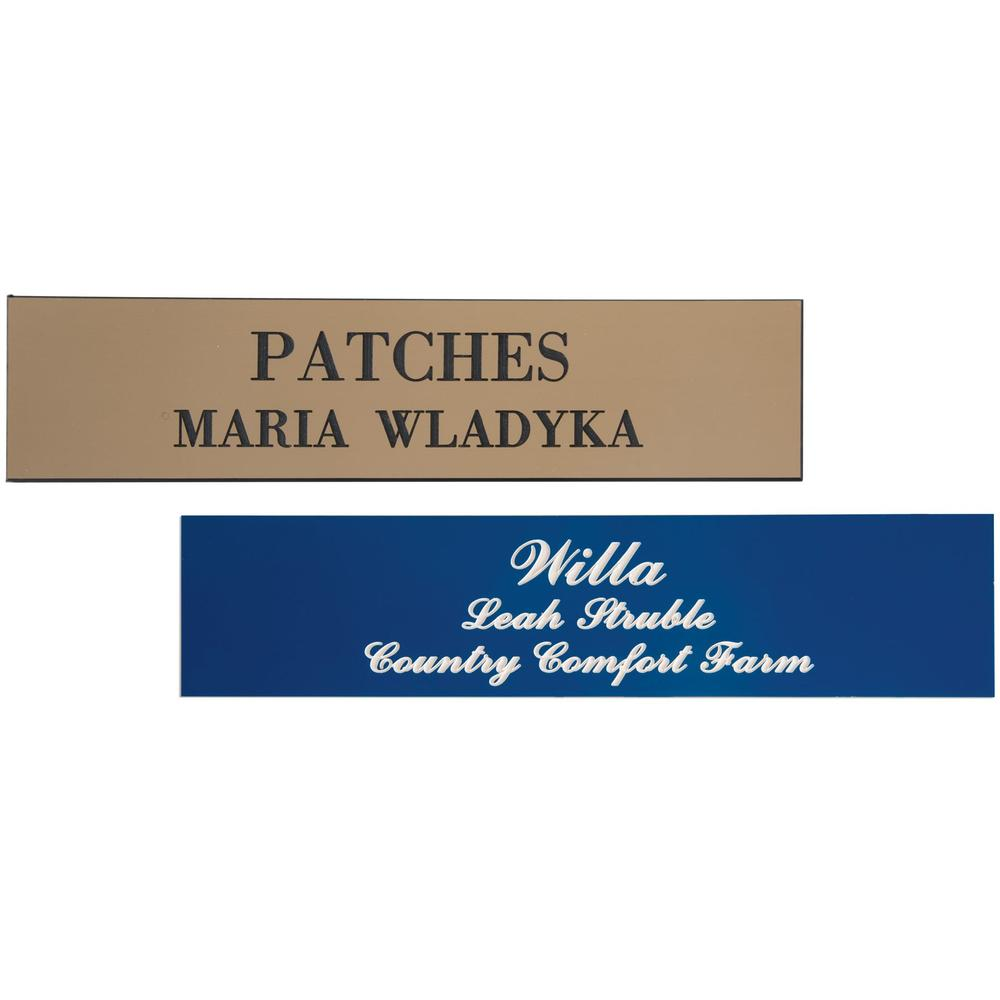 """Formica Stall Plate 2"""" x 8"""""""
