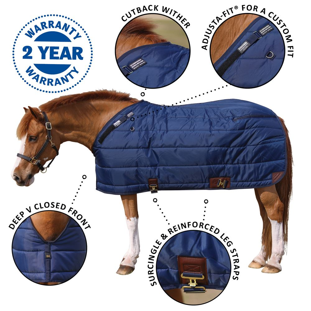 Adjusta-Fit® Pony Leg Strap Stable Blanket - Midweight