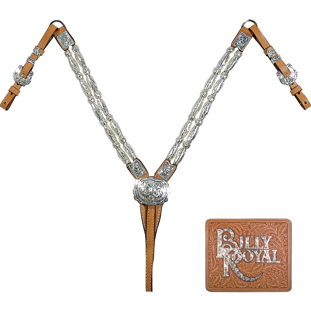 Billy Royal® Silver Plate Thunder Classic Breastcollar