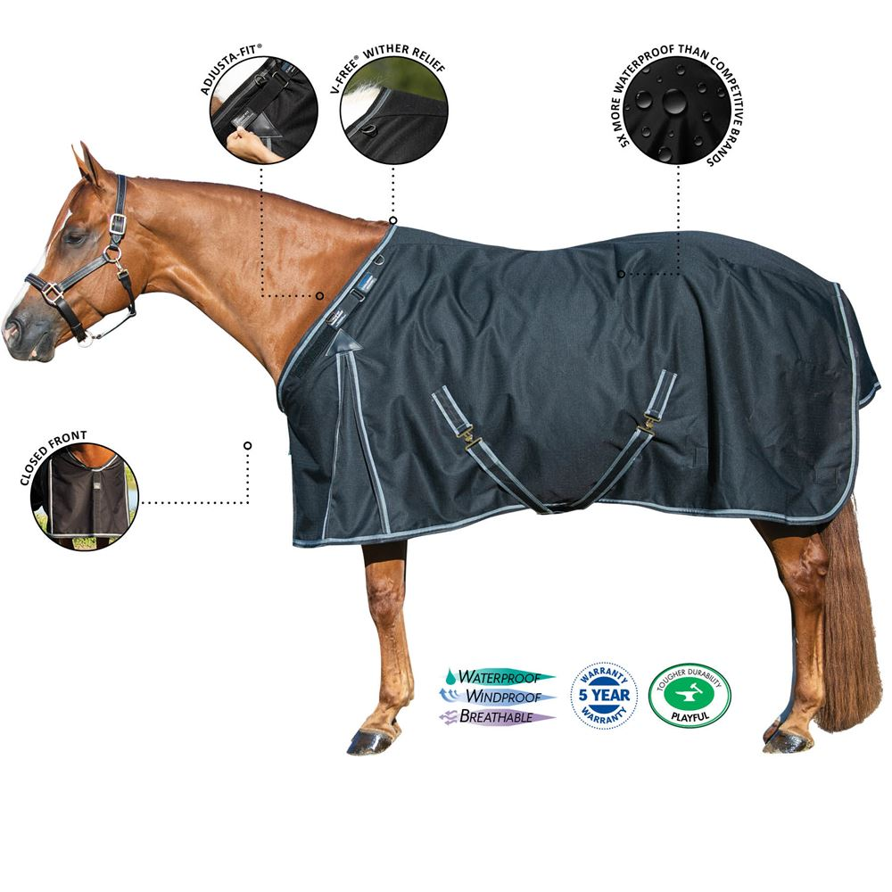 ARMORFlex® Challenger V-Free® Fit Closed Front Turnout Sheet � Surcingle