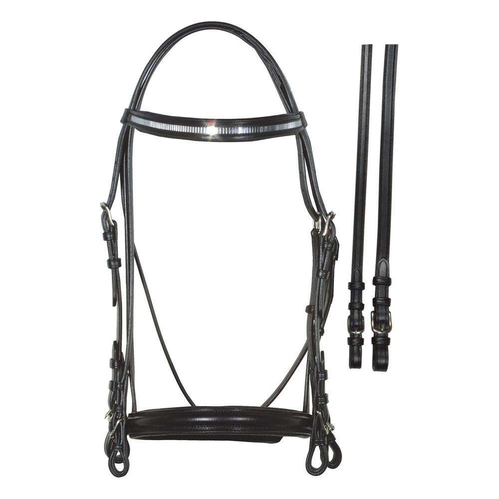 Bobby's English Tack Mirror Dressage Bridle