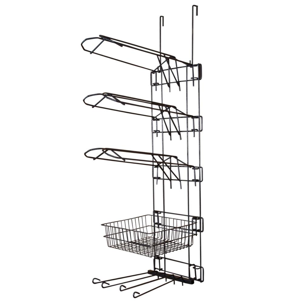 Easy-Up® Pro 5 Tier with 3 Saddle Racks, Basket & Swing Arms