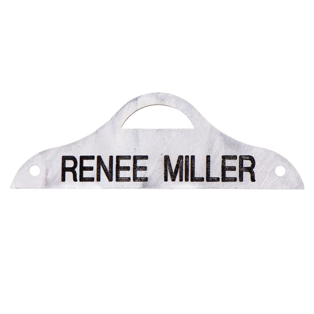 Scalloped Saddle Name Plate
