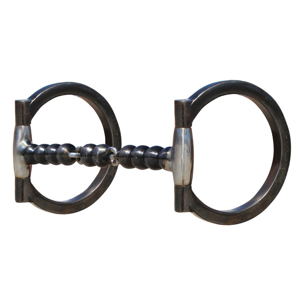 Professional's Choice® Clear Signal Foundation D Ring Snaffle Bit