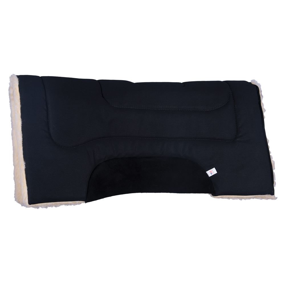Dura-Tech® Fleece Lined Canvas Western Saddle Pad With Cutouts
