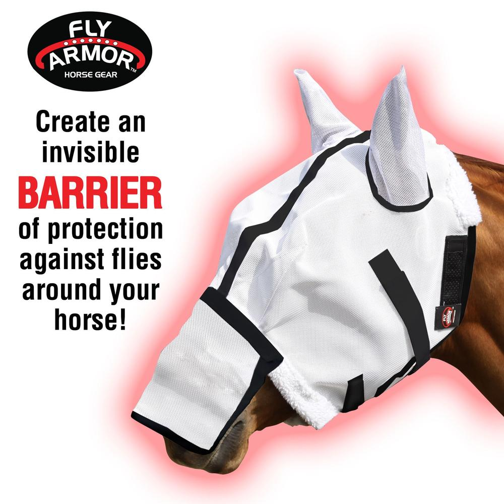 VaporShield™ Extended Nose Fly Mask with Ears