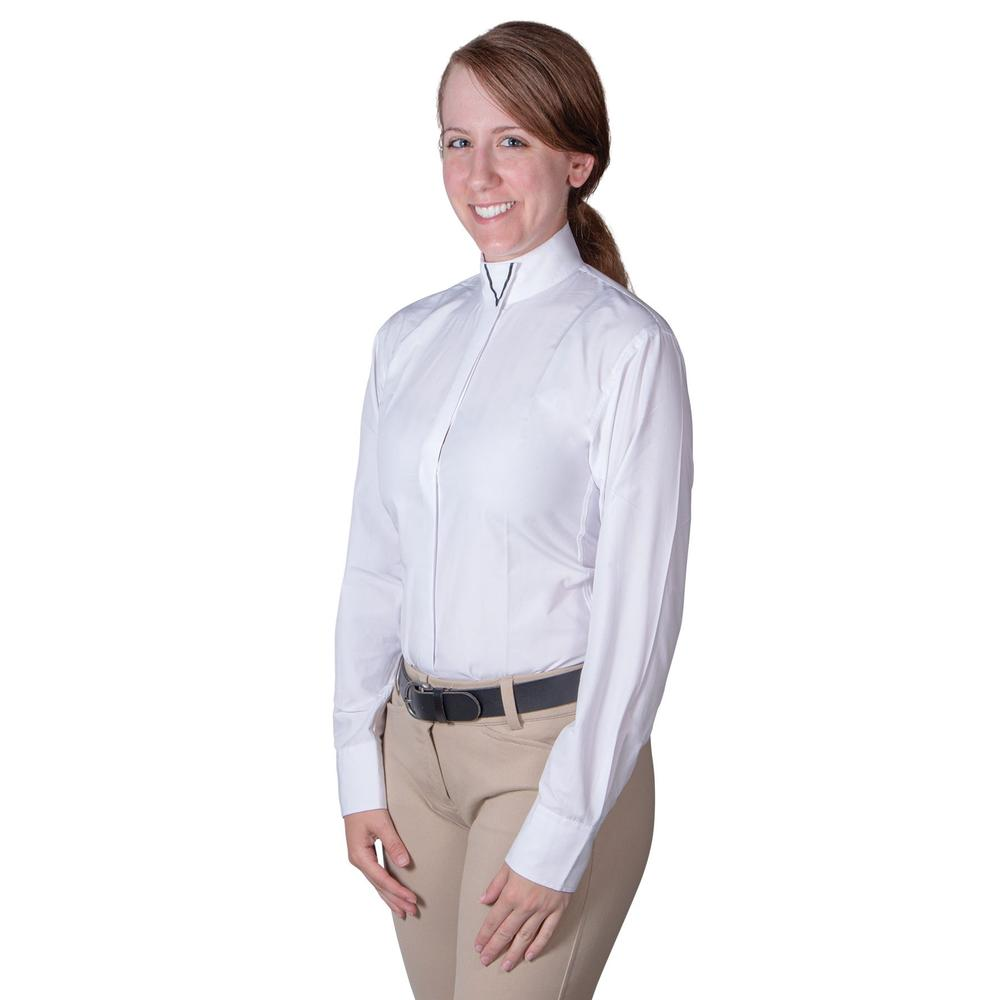 RHC Ladies Wrap Show Shirt With V Collar