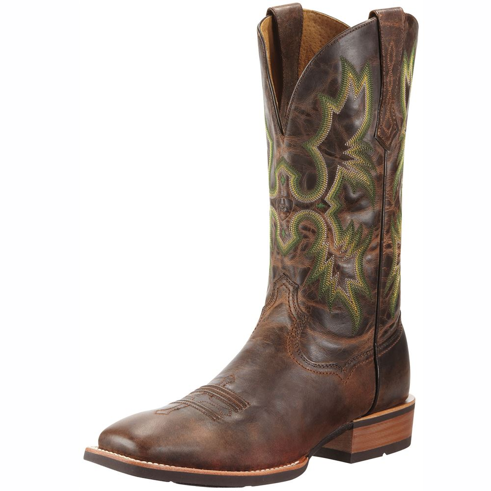 Ariat Mens Tombstone Wide Square Toe Chestnut Boot