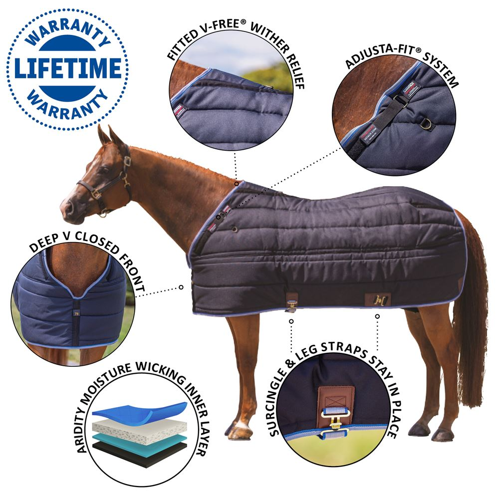Adjusta-Fit® Tekno-Quilt® V-Free® Leg Strap Stable Blanket - Heavyweight