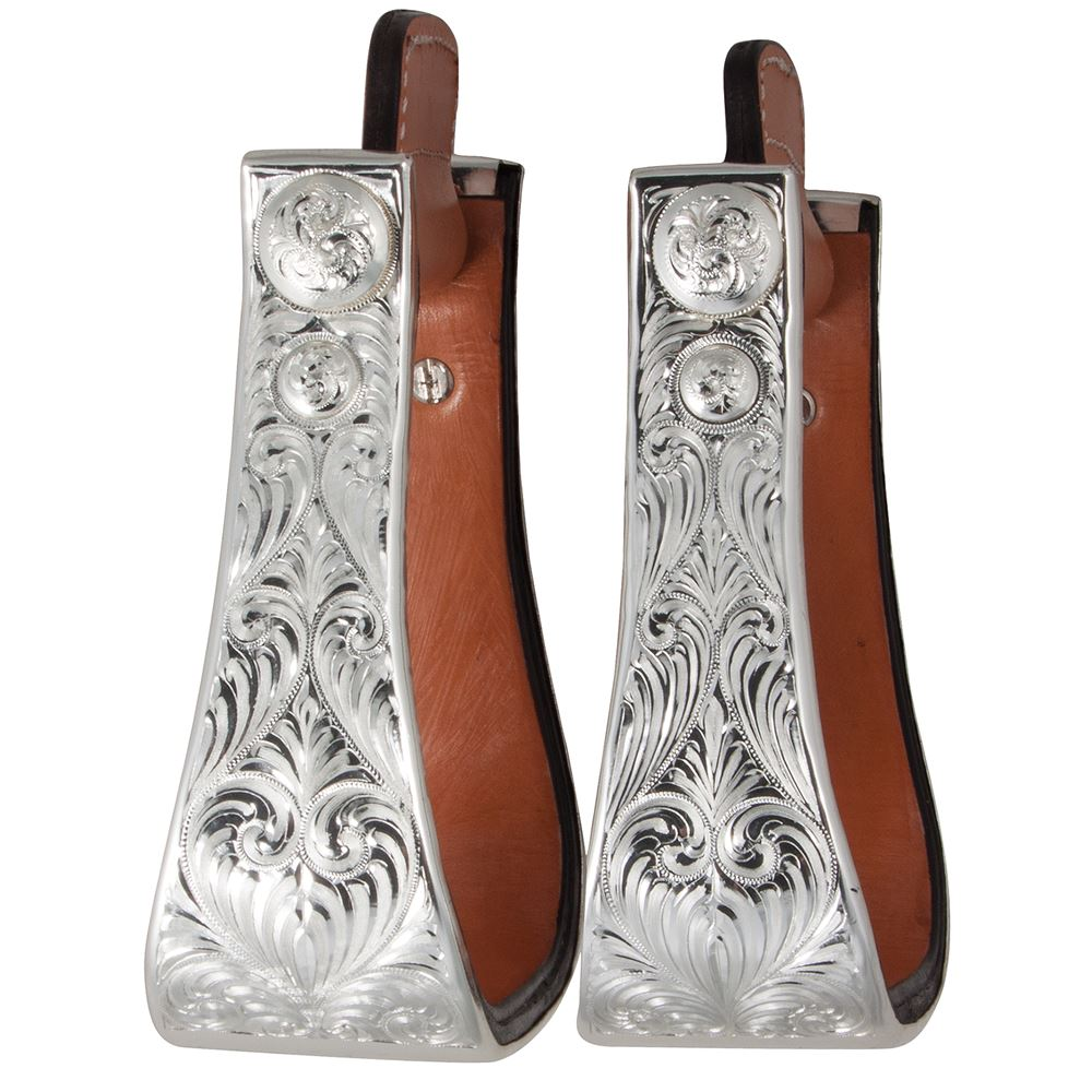 Billy Royal® Silver Show Stirrups