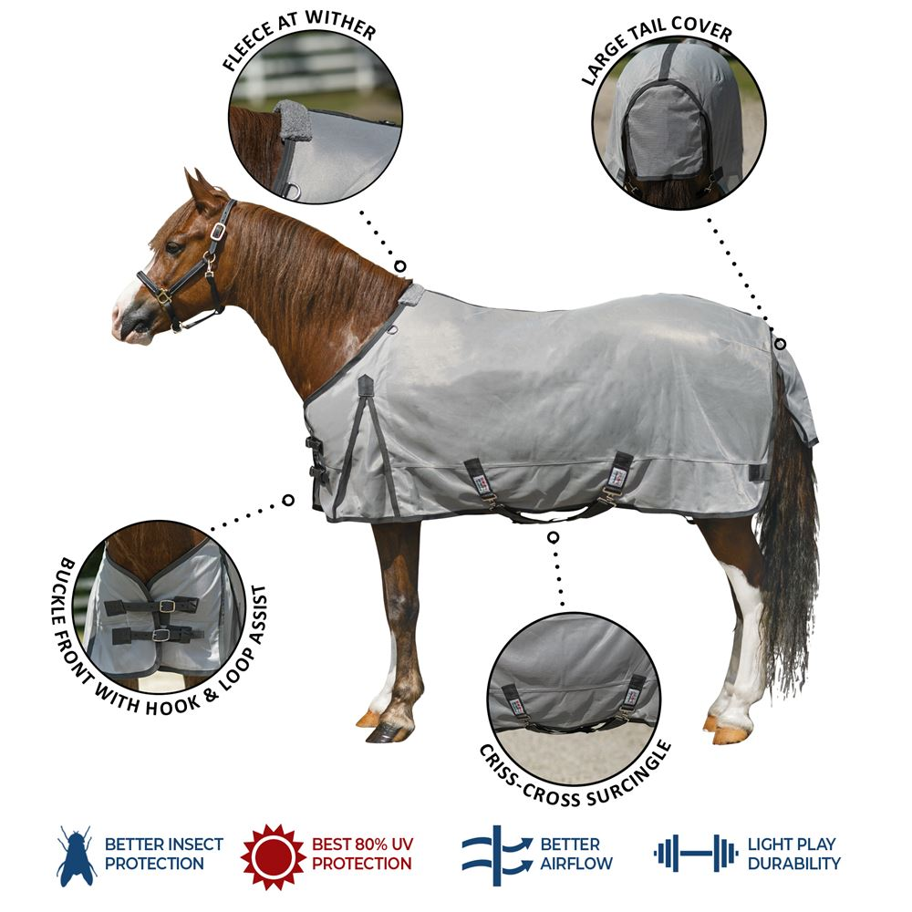 Interlock Mesh Pony Fly Turnout Sheet