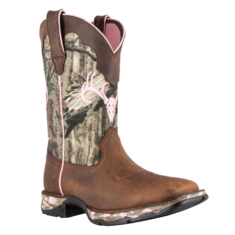 Durango® Lady Rebel Distressed Camo Boots