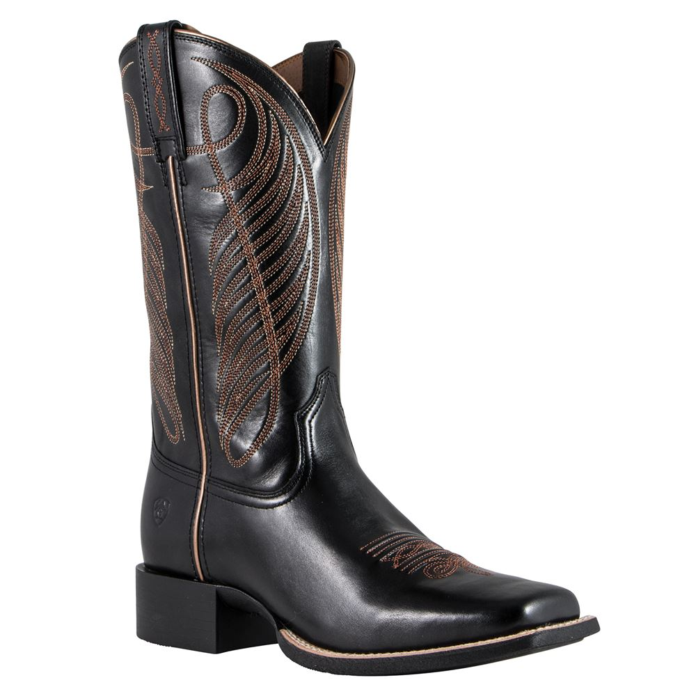 Ariat Ladies Limousin Black Round Up Boots