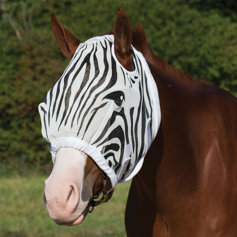 Dura-Tech® Zebra Fly Mask without Ears