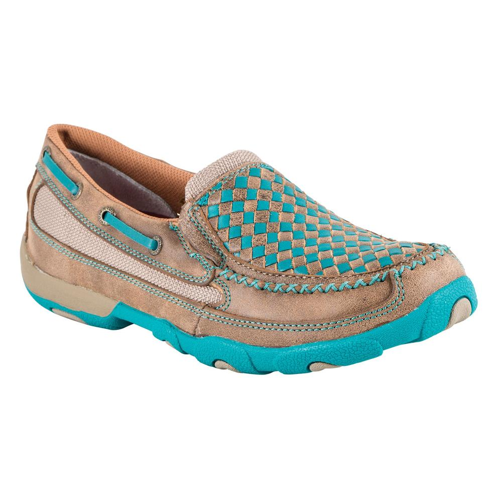 Twisted X Ladies Turquoise Weave Mocs
