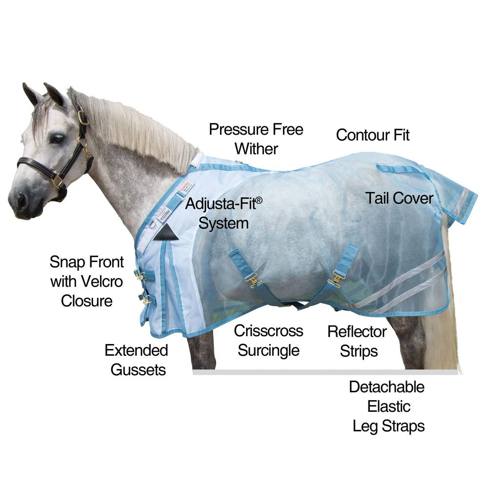 Mosquito Mesh Fitted V-Free® Pony Fly Sheet