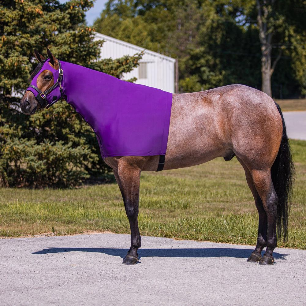 Face and Neck Cover Full Separating Zip in LARGE RED Horse Stretch Hood