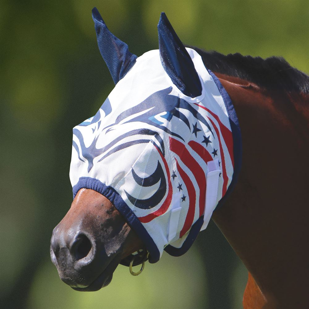 Dura-Tech® Patriotic Eagle Fly Mask with Ears