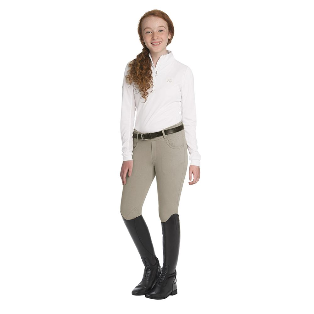 Ovation® Children's Euro Melange Knee Patch Breeches