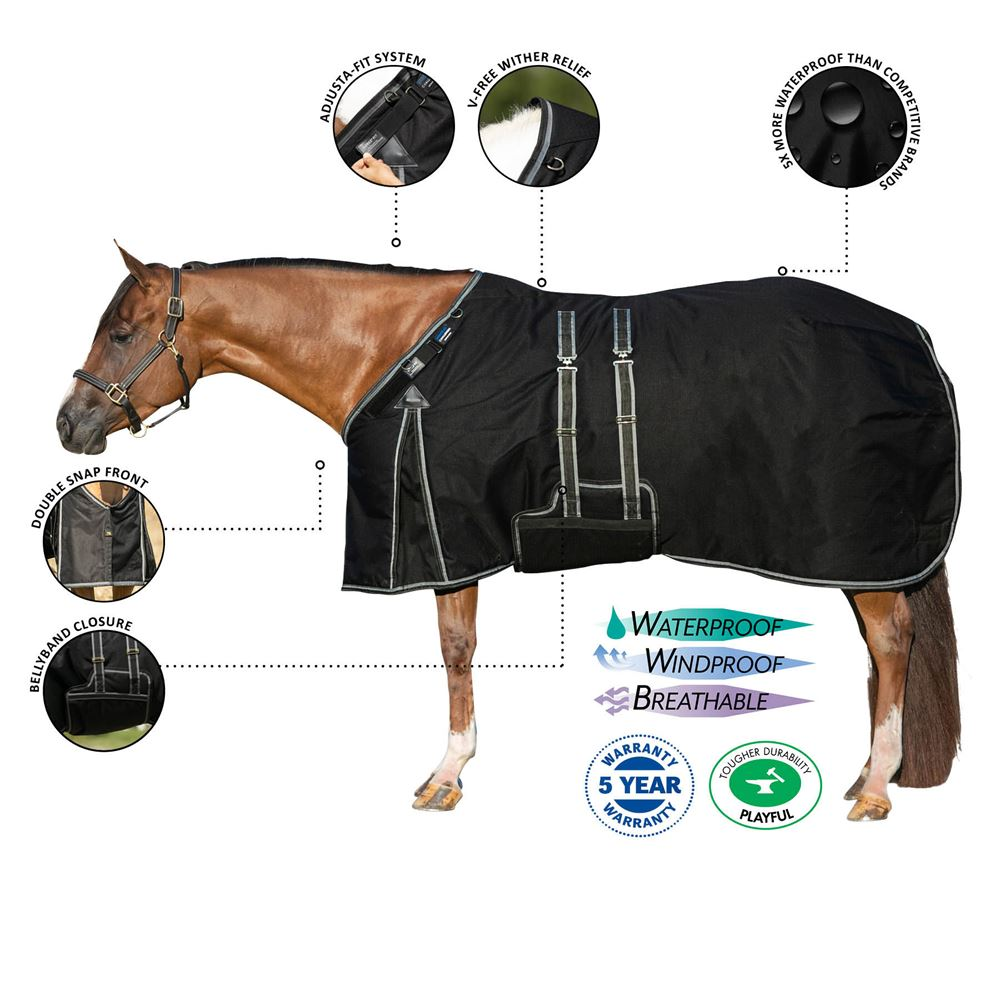 ARMORFlex® Challenger V-Free® Fit Closed Front Turnout Sheet - Bellyband