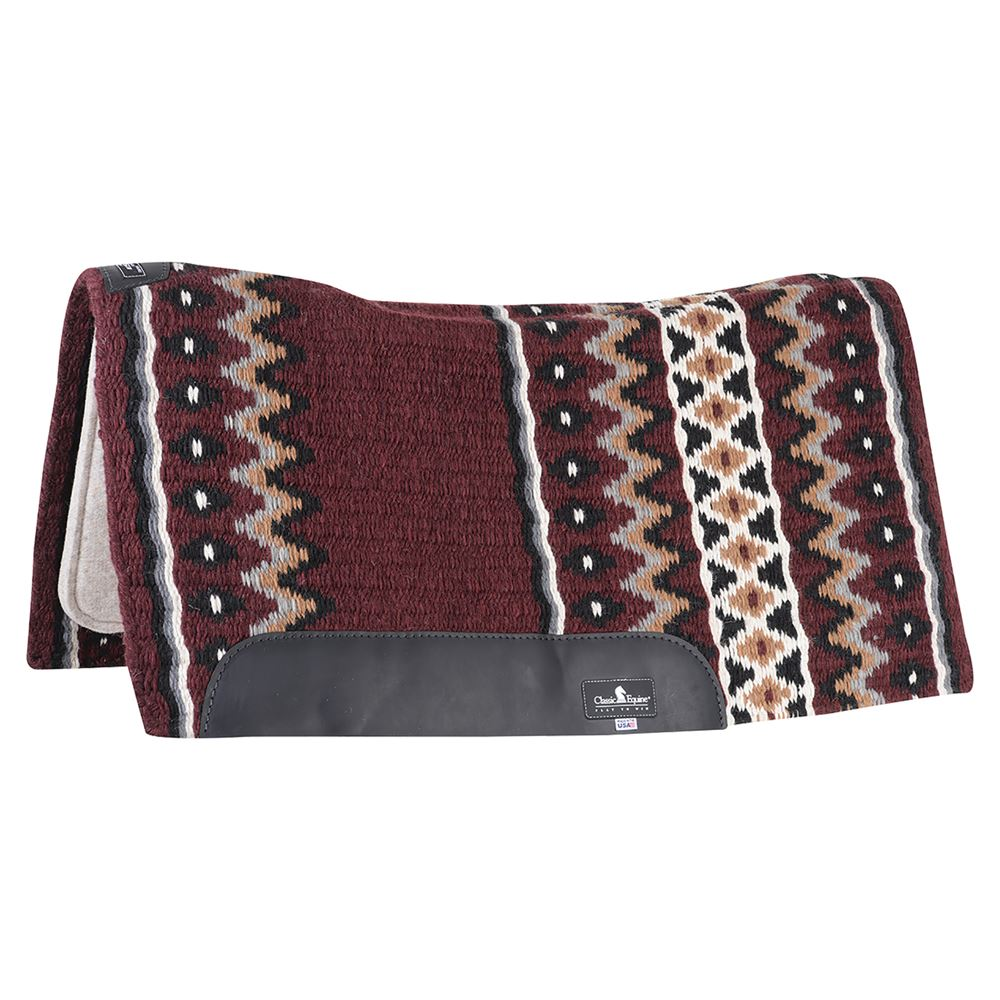 "Classic Equine® ESP™ Contour Wool Top Western Saddle Pad 34"" x 38"""