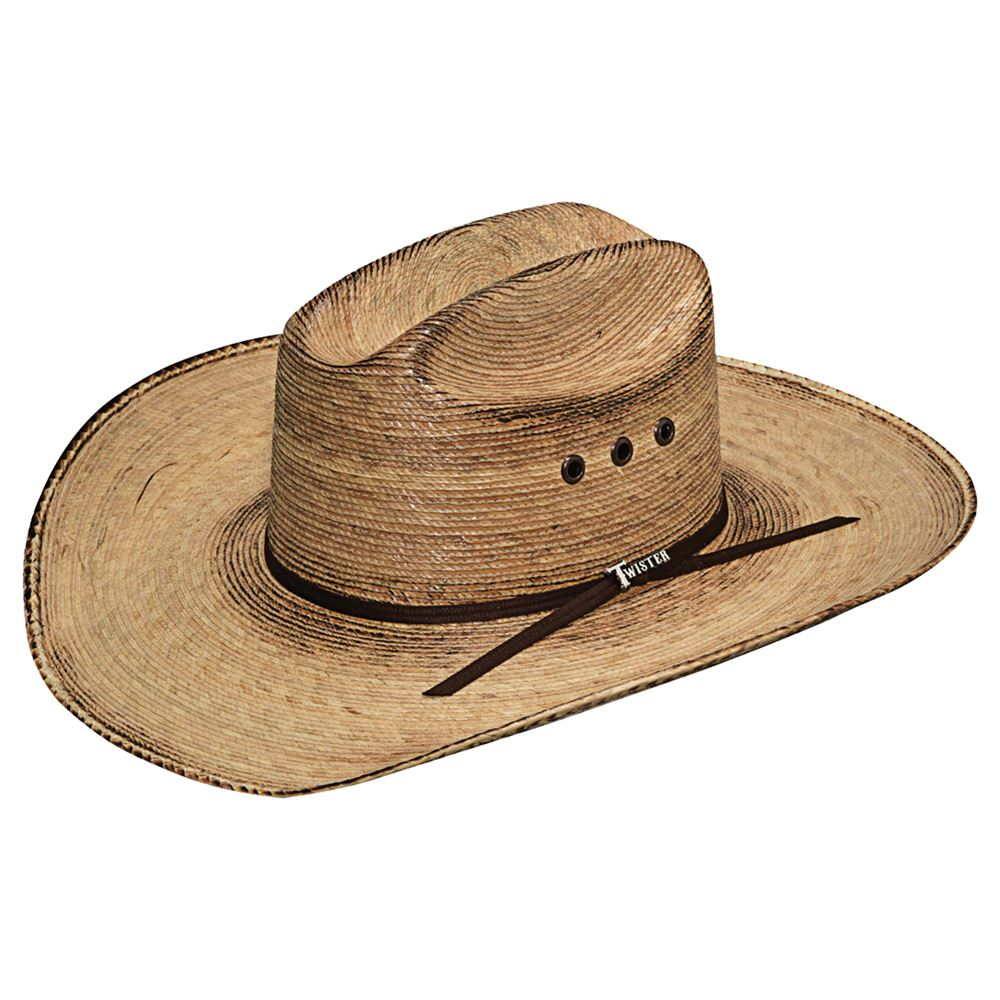 Twister Fired Palm Straw Cowboy Hat