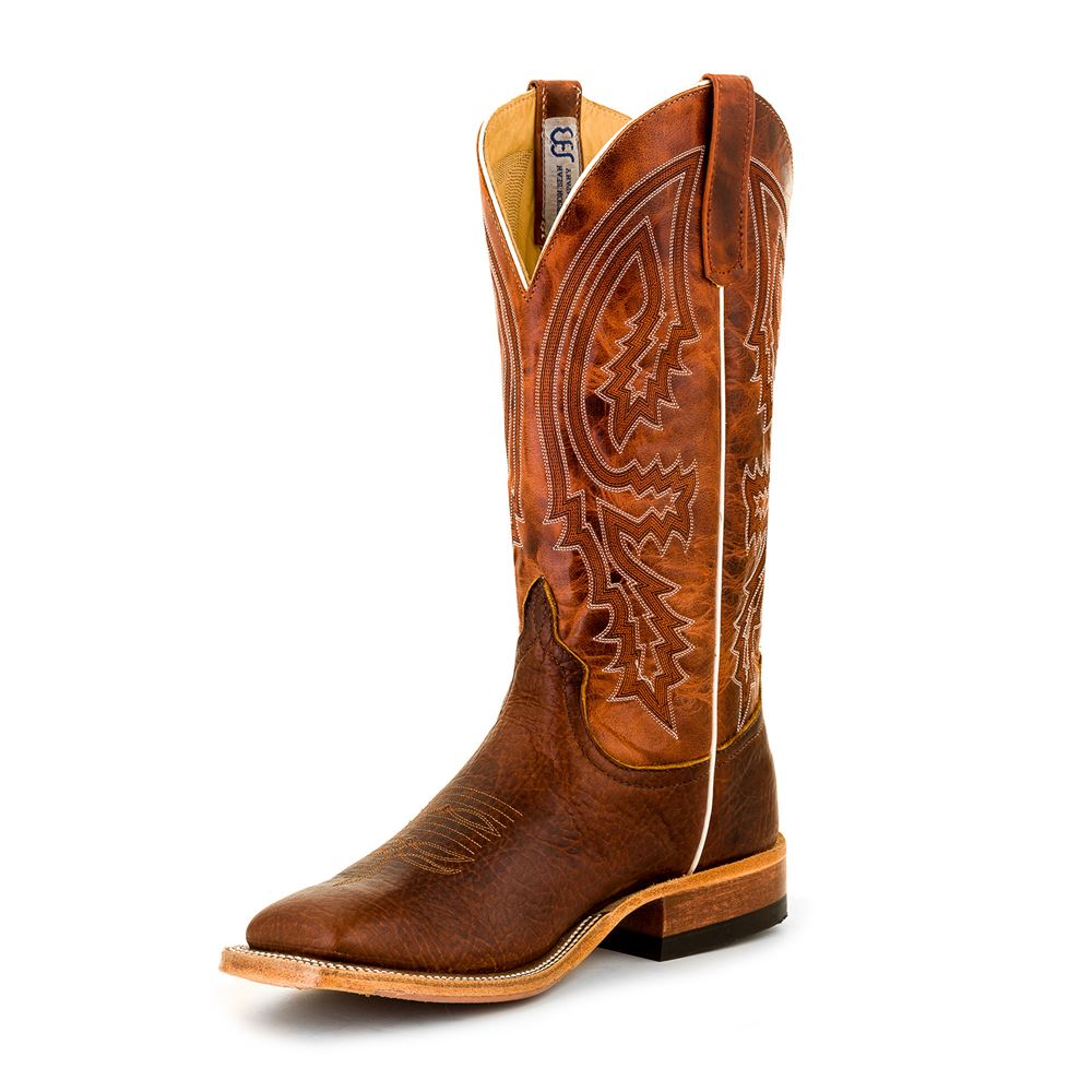 Anderson Bean Men�s Mike Tyson Brown Bison Western Boots