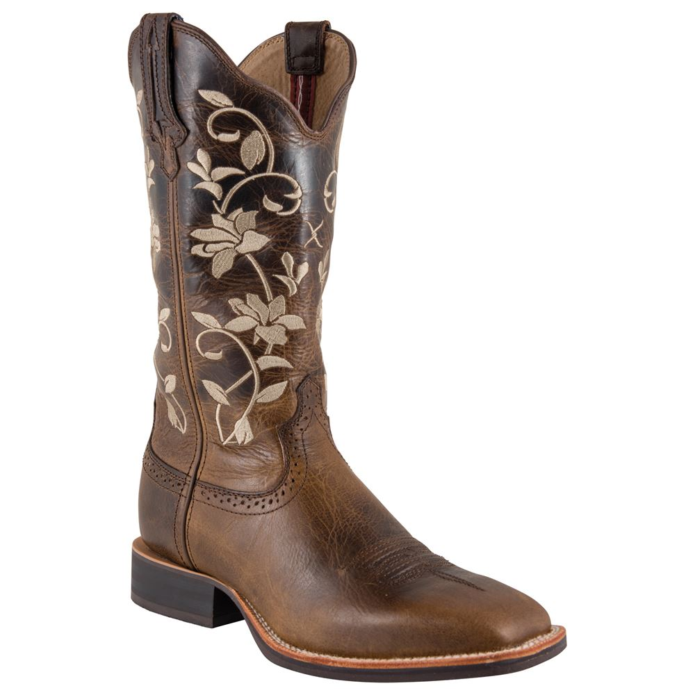 Twisted X Women�s Ruff Stock Oiled Bomber Western Boots