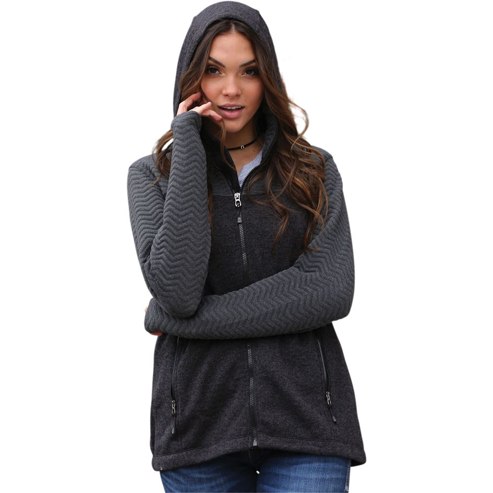 Cruel Girl Women's Quilted Sweater Jacket