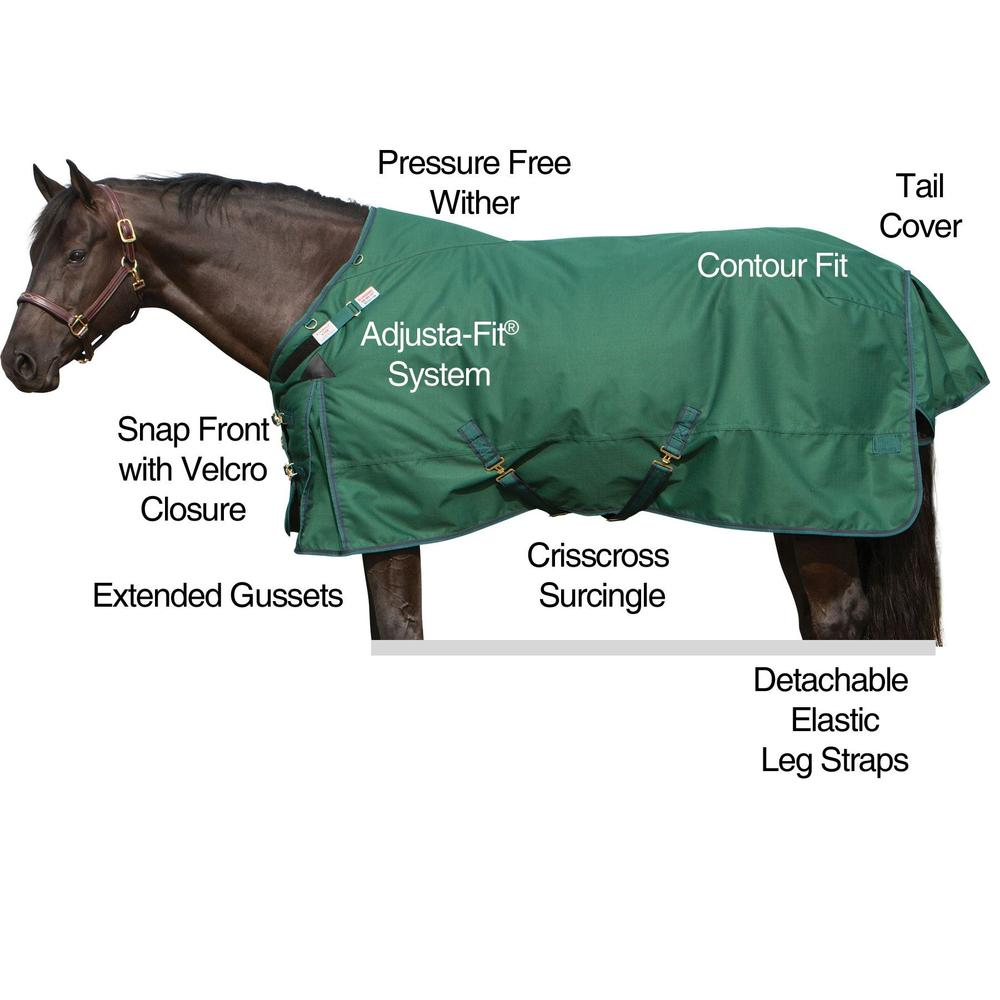 2017 StormShield® VTEK® Evergreen Turnout Blanket - Midweight
