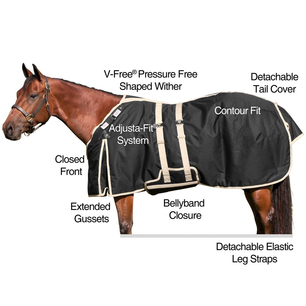 2017 StormShield® V-Free® Versatility Closed Front Bellyband Turnout Blanket - Medium Weight