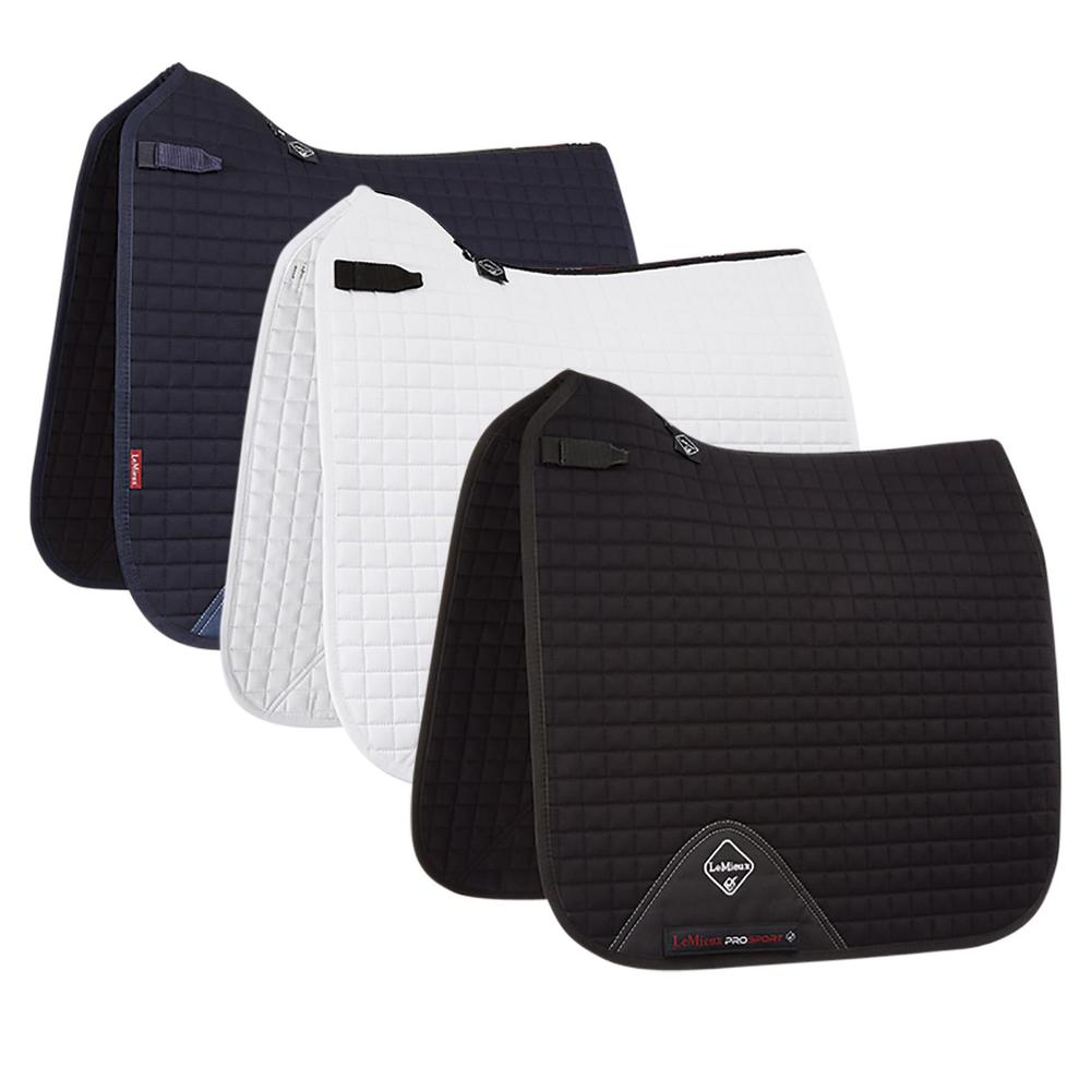 LeMieux™ Prosport Square Plain Cotton D-Ring Dressage Saddle Pad