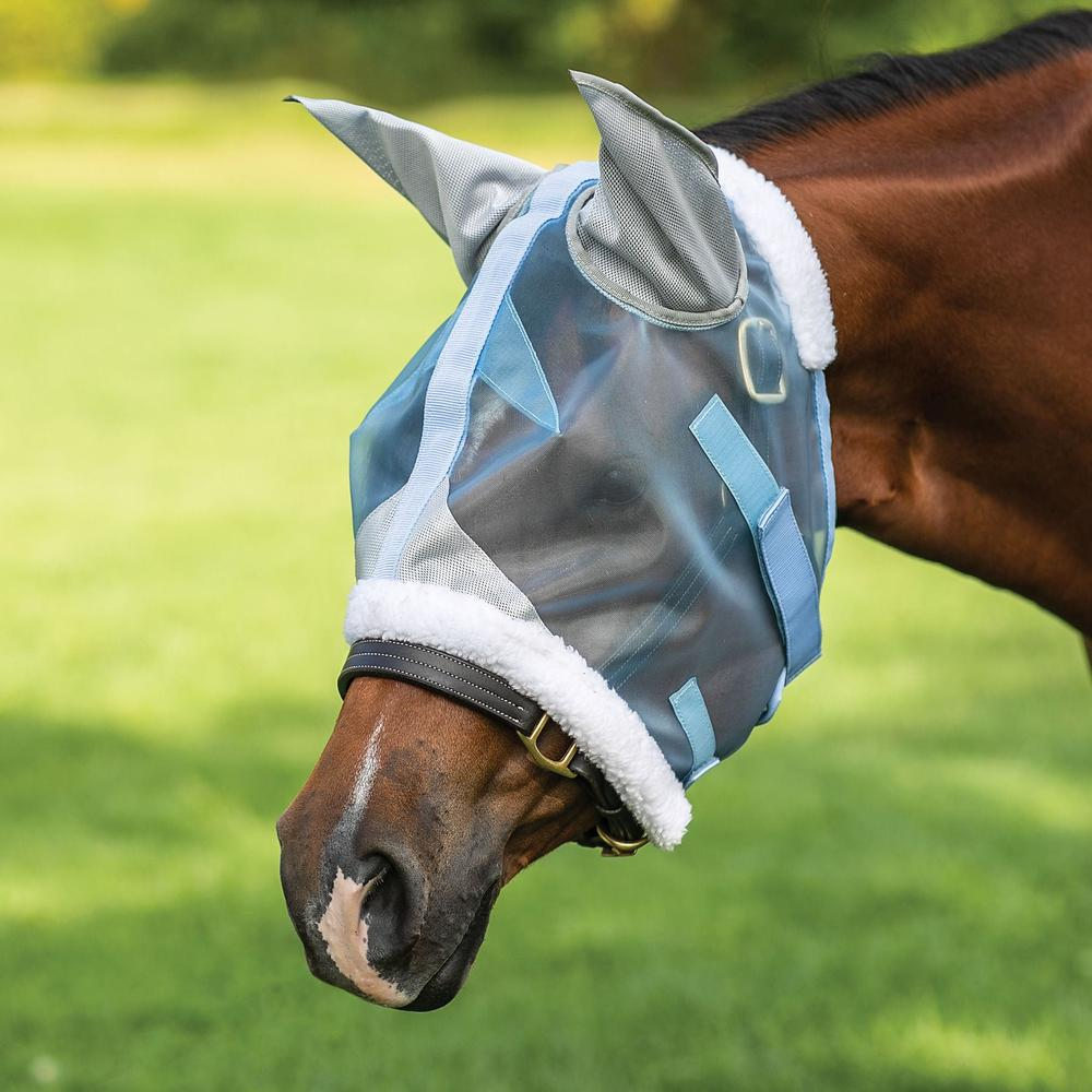 Mosquito Mesh Hybrid Fly Mask with Ears